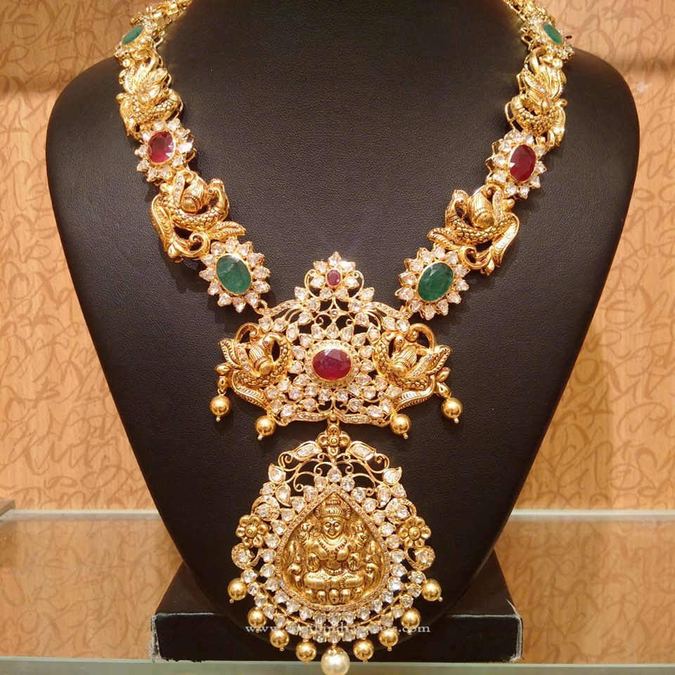 Gold Traditional Antique Haram 2016