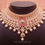 Gold Uncut Diamond Bridal Choker Necklace
