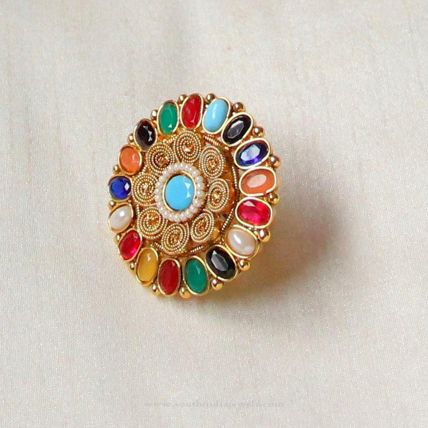 Imitation Navarathna Ring