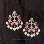 Beautiful Indian Ruby Earrings Design