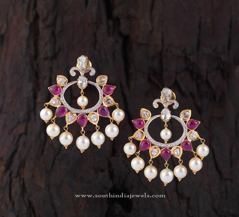 Inidan Ruby Earrings Designs