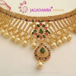 Gold Choker Model from Jagadamba Jewellers