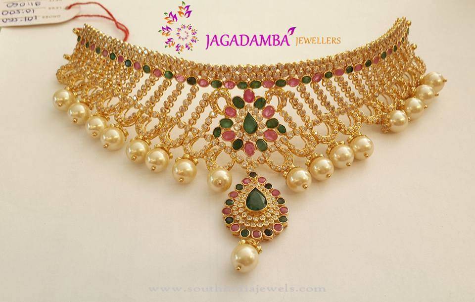 New Gold Choker Model from Jagadamba Jewellers