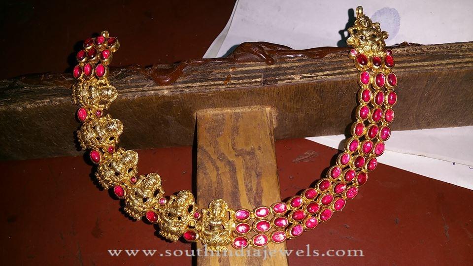 Gold Plated Silver Lakshmi Choker
