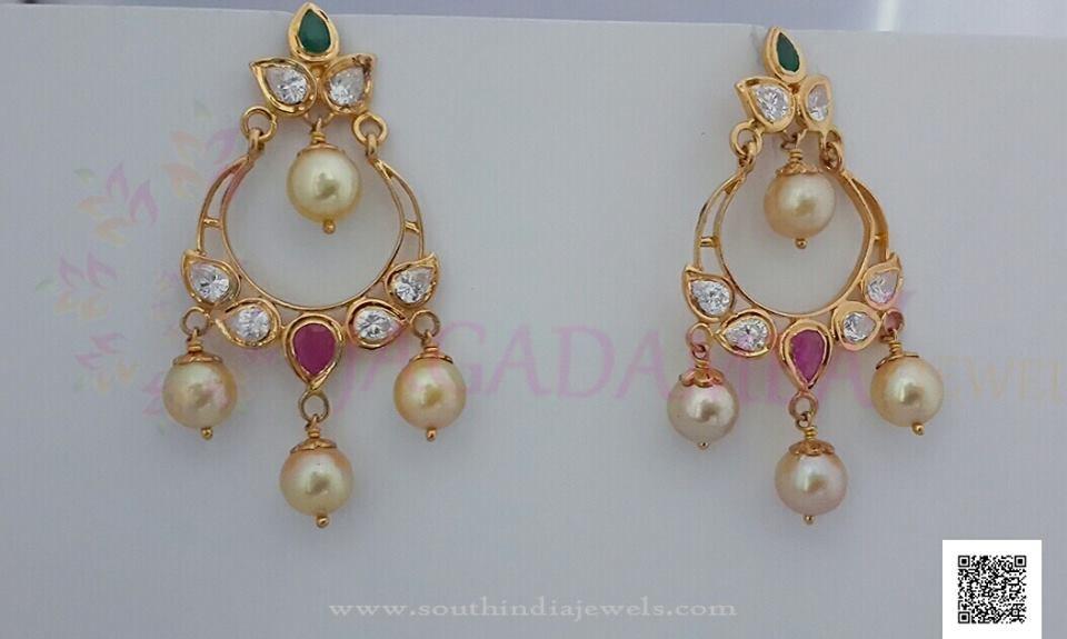 Simple Gold Pearl Drop Earrings