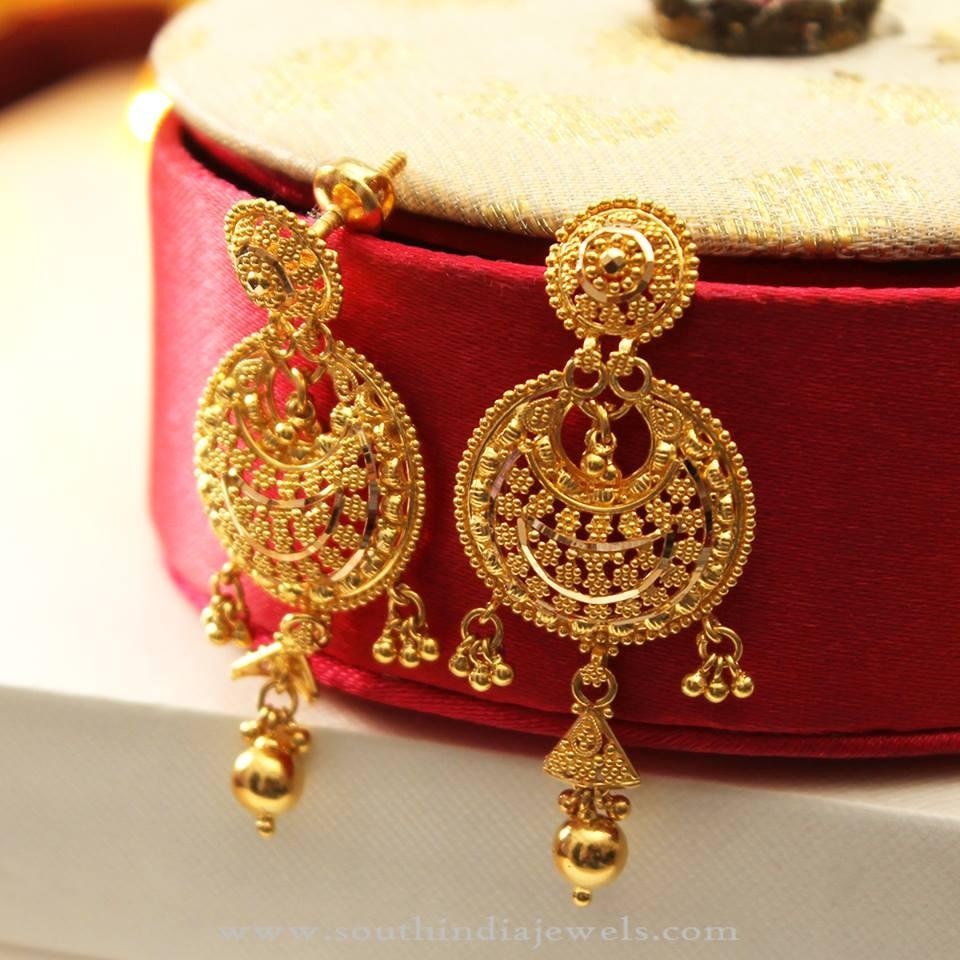 Gold Earrings For Weddings