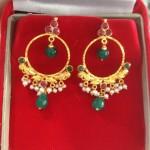 Gold Ring Earrings Design