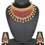 1 Gram Gold Necklace Set with Price