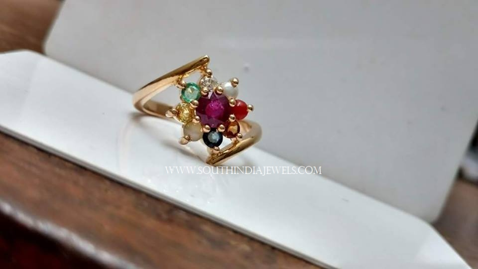 Gold Stone Ring For Women