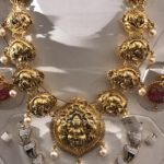 22K Gold Short Lakshmi Necklace