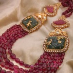 22KT Gold Ruby Necklace Locket With Side Locket