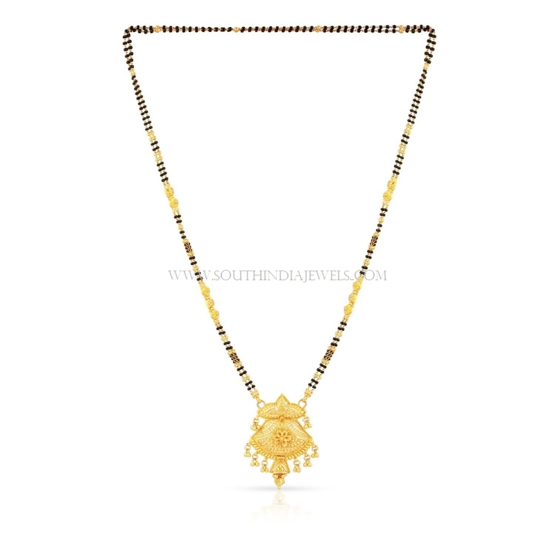 24kt gold mangalsutra designs with price
