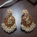 Big Antique Gold Plated Earrings