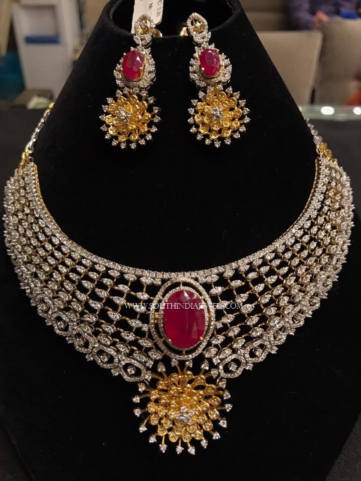 Designer Diamond Necklace Set