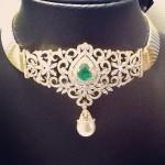 Diamond Choker From Veena Jewels