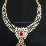 Diamond Necklace with Rubies