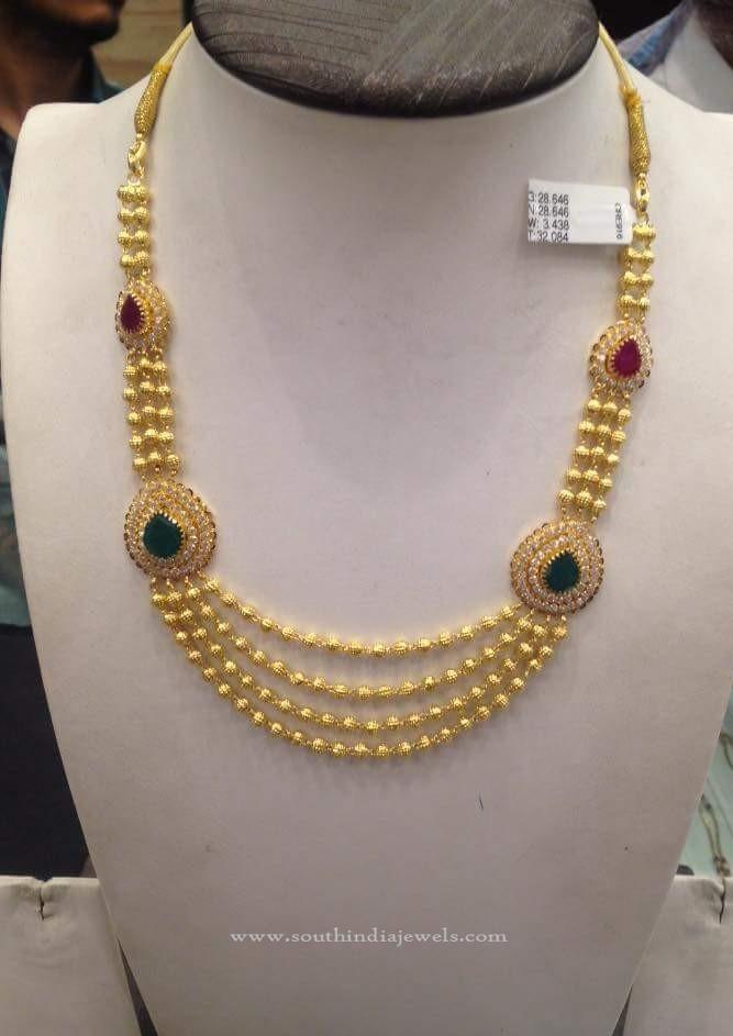 Gold Balls Necklace Designs