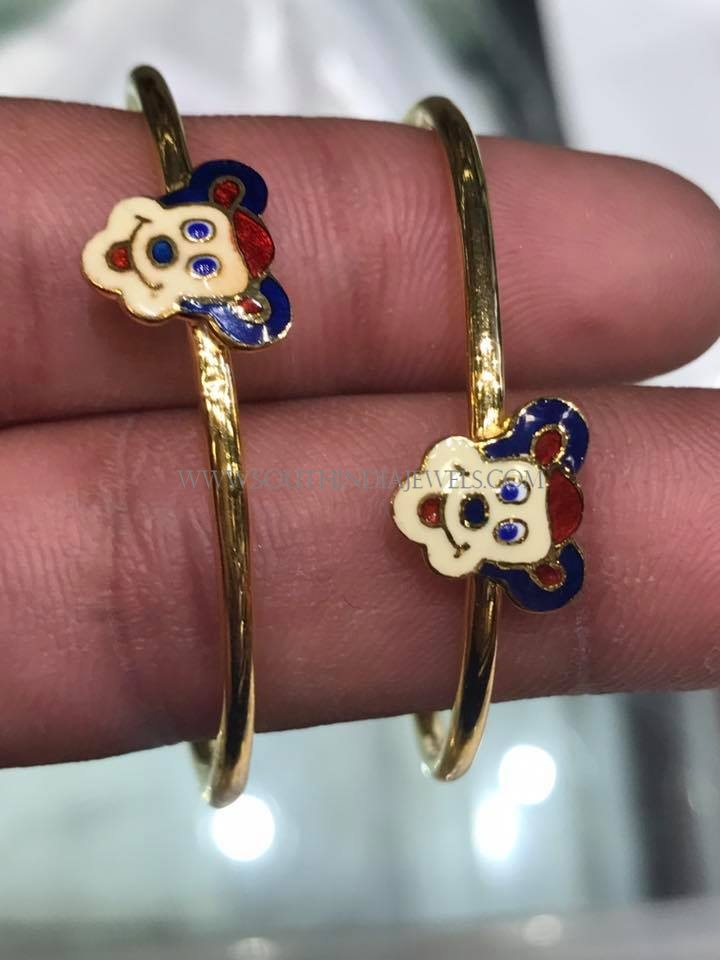 Latest Gold Bangles Collection For Kids South India Jewels