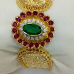 Latest Broad Gold Bangle Design 2017