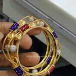 Gold Designer Square Shaped Bangle