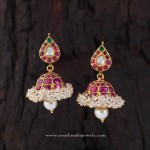Gorgeous Gold Ruby Jhumka