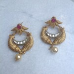 Gold Matt Finish Antique Earrings
