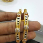 Designer Gold Rodium Coated Bangles