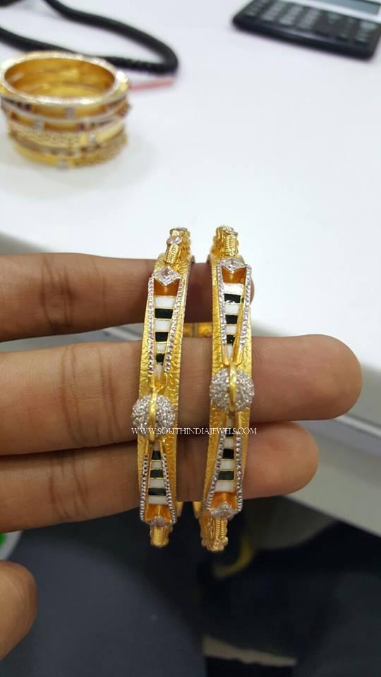 Designer Gold Rodium Coated Bangles