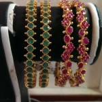 Gold Stone Bangle Collection