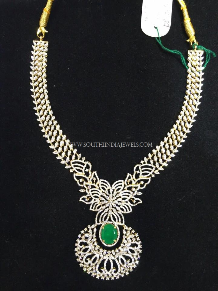 Grand Designer Diamond Necklace with Emerald
