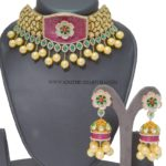 Imitation Kundan Choker With Matching Jhumka