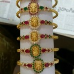 Light Weight Gold Temple Jewellery Bangles