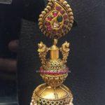 Gold Long Antique Jhumka