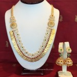 Multilayer Gold Coin Necklace with Side Locket