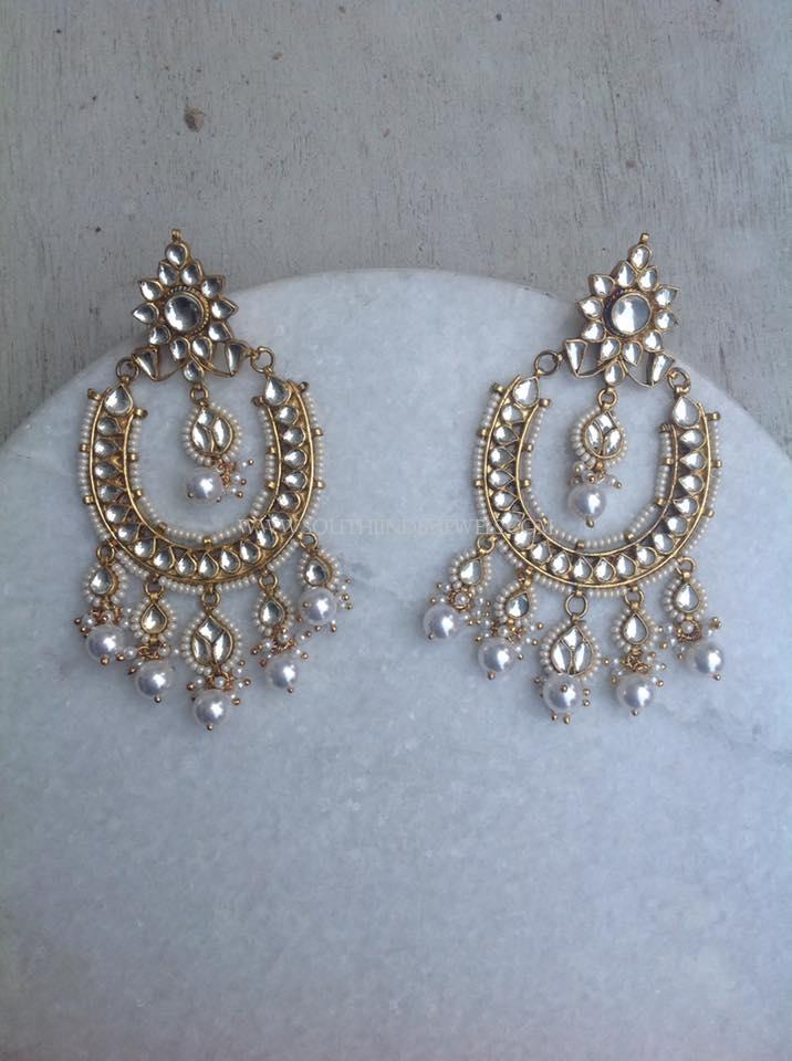 Stylish Kundan Chandbali Design