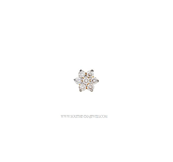 Tanishq Diamond Nose Pin Designs South India Jewels