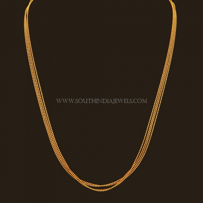 Gold Chain Designs For Women South India Jewels