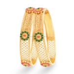 Gold Bangle (Kangan) Designs with Price and Weight