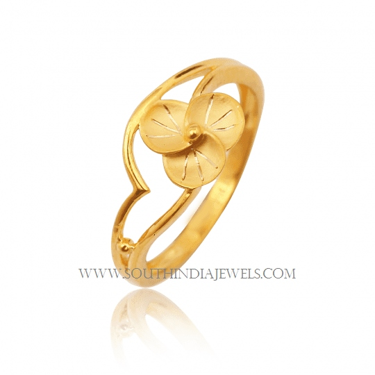 Gold Ring Design For Female Without Stone South India Jewels