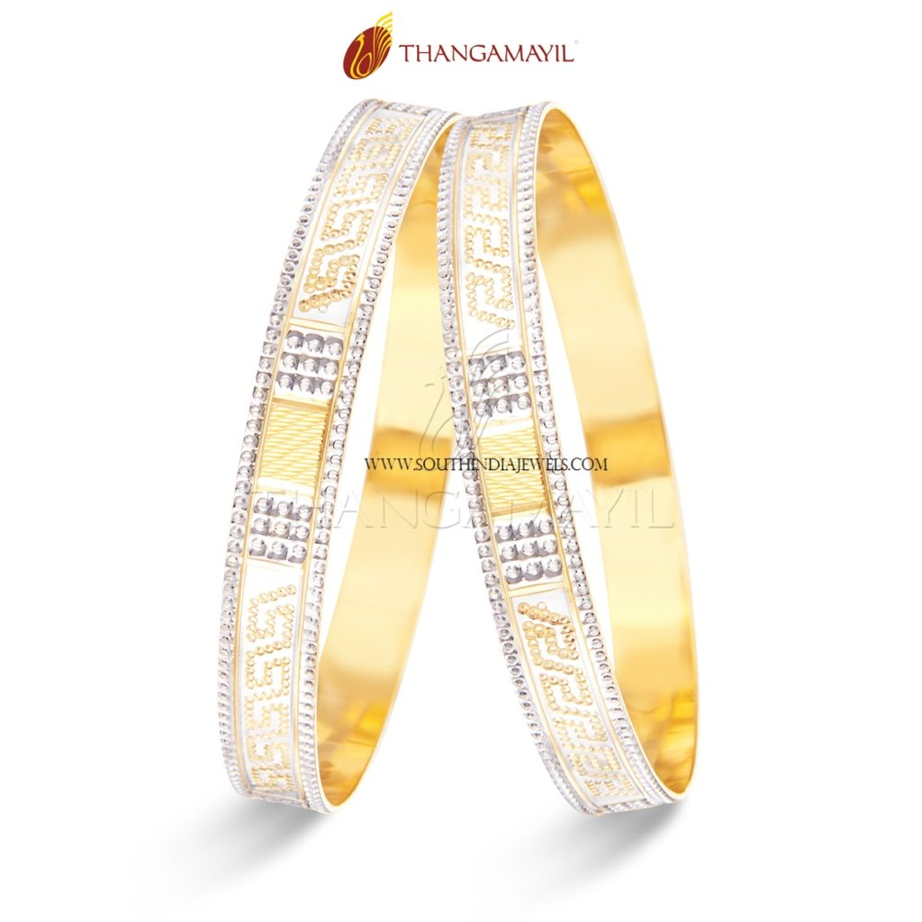 22K Gold Desigenr Bangles From Thangamayil