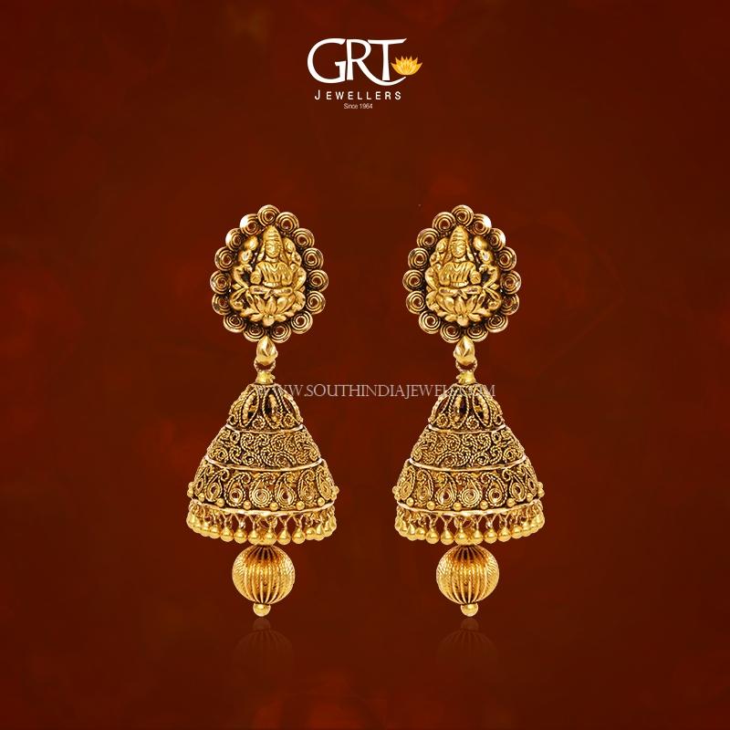 22K Gold Antique Jhumka 2017