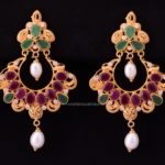 22K Gold Ruby Earrings From Bhima