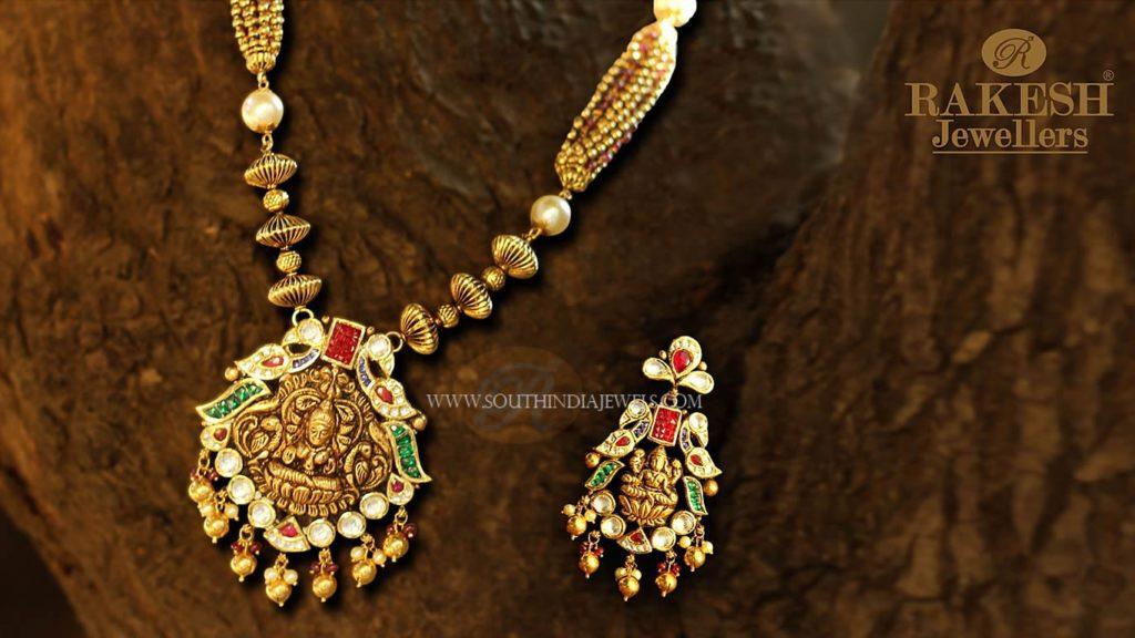Antique Lakshmi Necklace Set