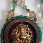 Beaded Necklace with Antique Pendant