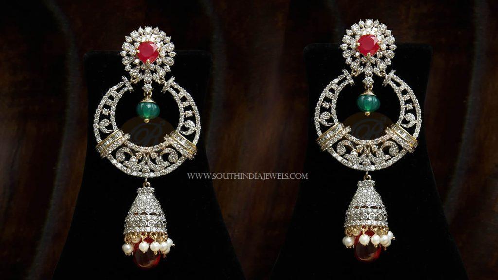 Big Diamond Jhumka Earrings