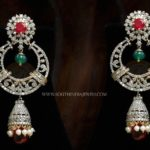 Big Diamond Jhumka Earrings