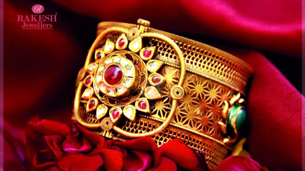 Big Gold Adjustable Bangles