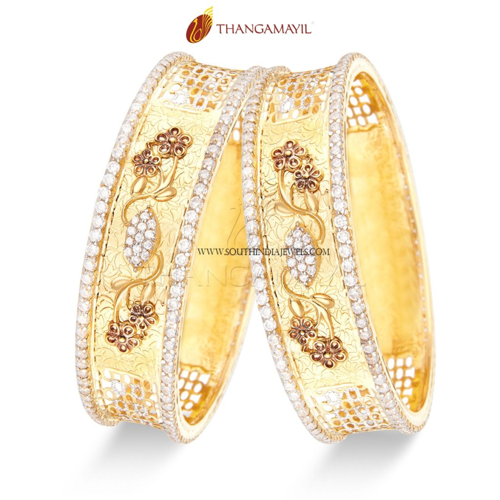 Designer Stone Bangles from Thangamayil Jewellery