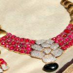 Diamond Ruby Necklace Set from Rakesh Jewellers