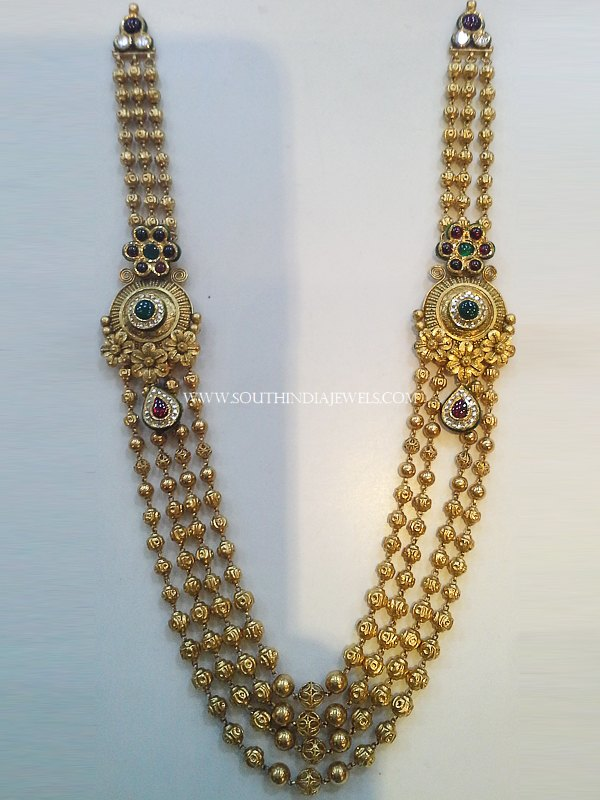 Multilayer Gold Ball Haram With Side Locket